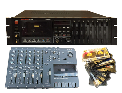 8 and 4 track cassette recorders and cassettes