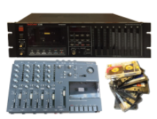 Cassette 8 track and 4 track recorders and tapes